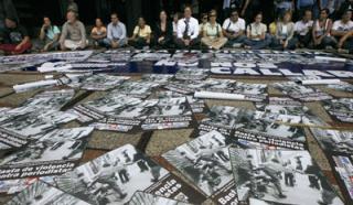 Periodistas acto 14 de septiembre 2009